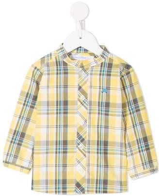 Familiar checked button shirt