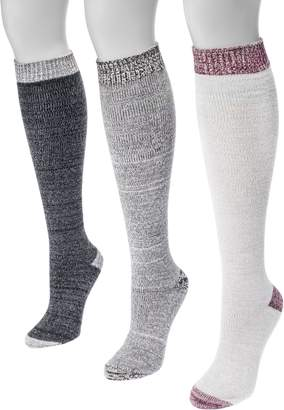 Muk Luks Women's 3 Pair Pack Microfiber Knee High Socks