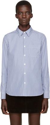 A.P.C. Blue Striped Shirt $190 thestylecure.com