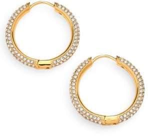 "Adriana Orsini Pave Hoop Earrings/0.8"""