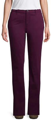 ST. JOHN'S BAY Sateen Flat Front Pants-Petite