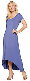 Halston H by Regular Hi-Low Hem Knit Maxi Dress