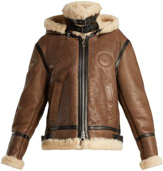 Chloé Shearling and leather aviator jacket
