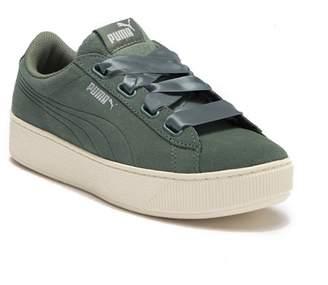 Puma Vikky Platform Ribbon Suede Sneaker