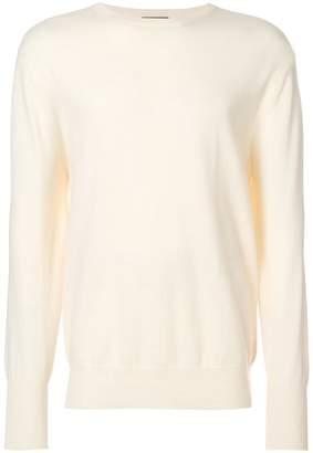 N.Peal Oxford round neck sweatshirt