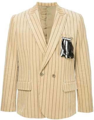 Yoshio Kubo Yoshiokubo corduroy striped blazer