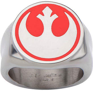 Star Wars FINE JEWELRY Stainless Steel Red Rebel Symbol Ring