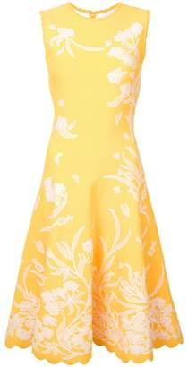 Carolina Herrera floral embroidered dress