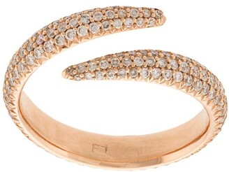 Eva Fehren diamond embellished midi ring