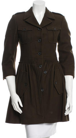 Miu Miu Miu Miu Pleated Wool Coat