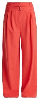 Tibi Stella Wide Leg Trousers - Womens - Dark Pink