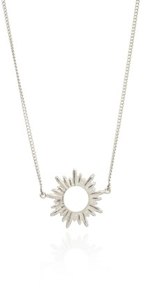 Rachel Jackson London Sunrays Short Necklace in Silver