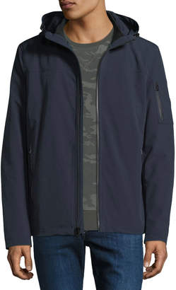 Iconic American Designer Men's Sherpa-Lined Soft-Shell Jacket