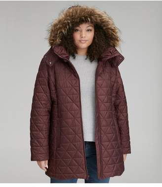 Andrew Marc Cypress Quilted Hooded Jacket Plus