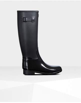 Hunter Womens Refined Slim Fit Gloss Duo Rain Boots