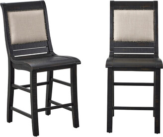 Progressive Furniture Set Of 2 Counter Upholstered Chair