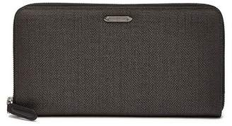Ermenegildo Zegna Zip Around Chevron Travel Wallet