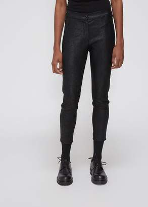Ann Demeulemeester Leather Button Front Trouser