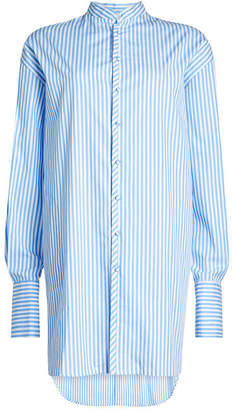WILLIAM FAN Striped Cotton Shirt Dress