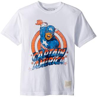 The Original Retro Brand Kids Vintage Cotton Captain America Tee Boy's T Shirt