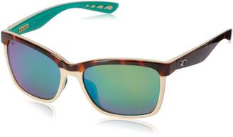 Costa del Mar Women's Anna Polarized Iridium Square Sunglasses