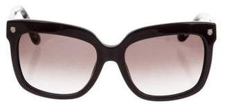 Salvatore Ferragamo Embellished Square Sunglasses