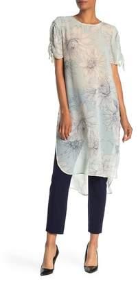 Vince Camuto Pagoda Blossoms Shirttail Tunic
