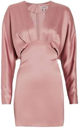 Cushnie Satin Blouson Mini Dress