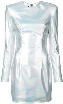 Balmain holographic mini dress