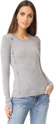 Bailey44 Crew Side Button Cardigan $178 thestylecure.com
