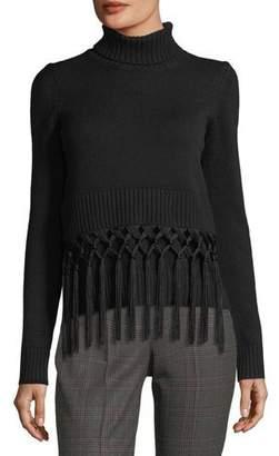 Michael Kors Tassel-Trim Cashmere Turtleneck Sweater