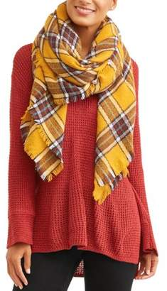 Twig & Arrow Women's Plaid Oversized Blanket Scarf