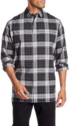 Vince Melrose Trim Fit Plaid Sport Shirt