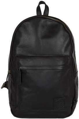 MAHI Leather - Leather Classic Backpack Rucksack in Black Leather