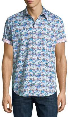 Robert Graham Travey Woven Short-Sleeve Shirt