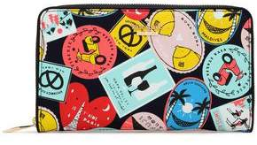 Kate Spade Printed Faux Leather Continental Wallet