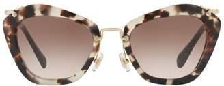 Miu Miu Noir Cat Eye Sunglasses