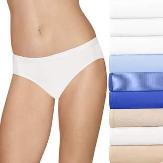 Hanes Women's Ultimate Comfort Stretch 9-Pack Bikini Panties 42KSP9