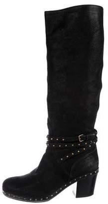 Miu Miu Studded Knee-High Boots