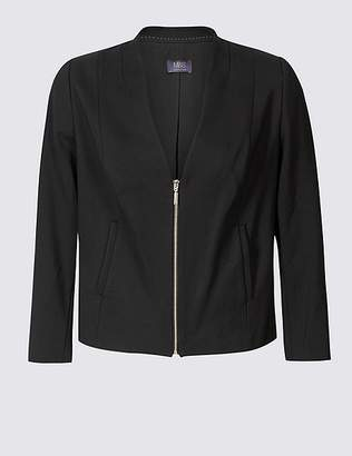 Marks and Spencer CURVE Zipped Front Blazer