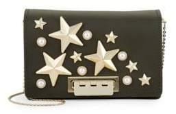 Zac Posen Earthette Accordion Leather Crossbody Bag