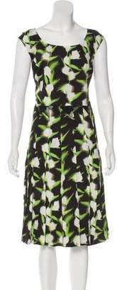 Zac Posen Printed Midi Dress