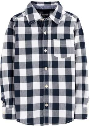 Osh Kosh Oshkosh Bgosh Boys 4-12 Plaid Button Down Shirt
