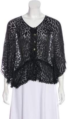 Yumi Kim Silk Semi-Sheer Blouse
