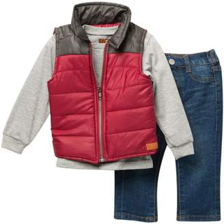 7 For All Mankind Vest, Top, & Pants Set (Baby Boys)
