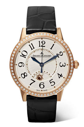 Jaeger-LeCoultre Rendez-vous Night & Day 34mm Rose Gold, Alligator And Diamond Watch