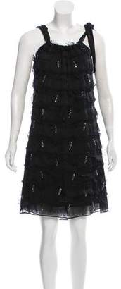 Save The Queen Embellished Mini Dress w/ Tags