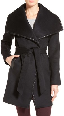 Women's Elie Tahari Whipstitch Wool Blend Wrap Coat $698 thestylecure.com