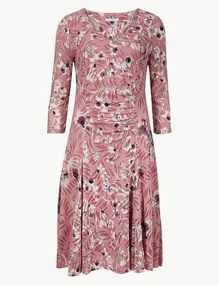 Marks and Spencer Floral Print Waisted Dress