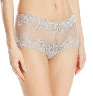 Only Hearts Women's So Fine Lace Cheeky Brief, Heather Grey